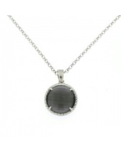 Penjoll de plata amb cristall gris. - PERS006G