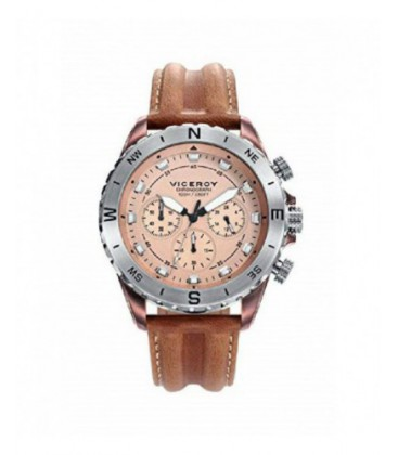 Reloj Viceroy caballero cronómetro de correa de piel. - 471113-47