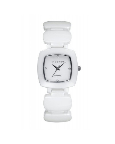 Reloj Viceroy señora cerámico blanco. - 47818-00