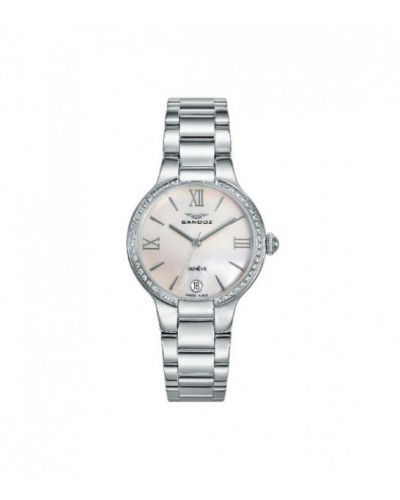 Reloj Sandoz de señora con brazalete de acero. - 81334-03