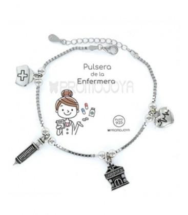 Pulsera plata profesiones Enfermera. - 9101766