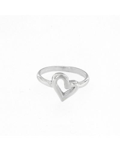 Anell de plata amb cor irregular. - ANRN398