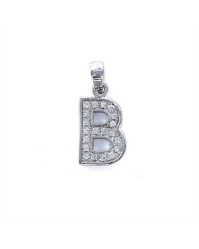 Colgante plata inicial letra B. - 9075804