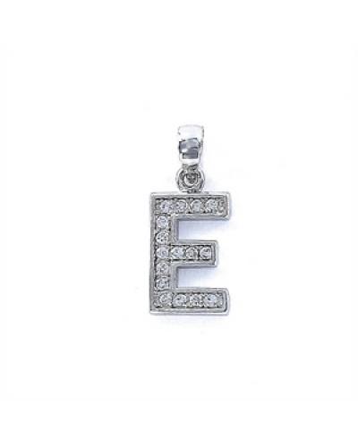 Colgante de plata inicial E. - 9075808