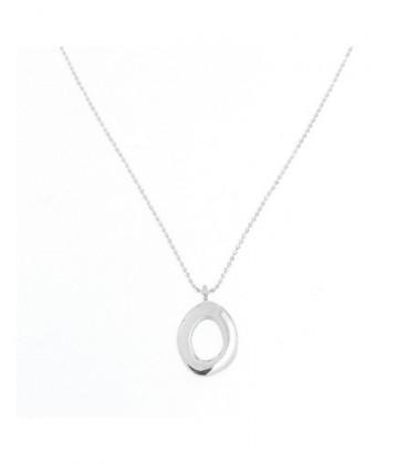 Penjoll de plata de llei amb forma de cercle asimètric. - PERN396