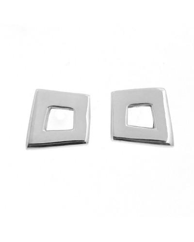 Arrecades de plata quadrat asimétric. - ARRN393