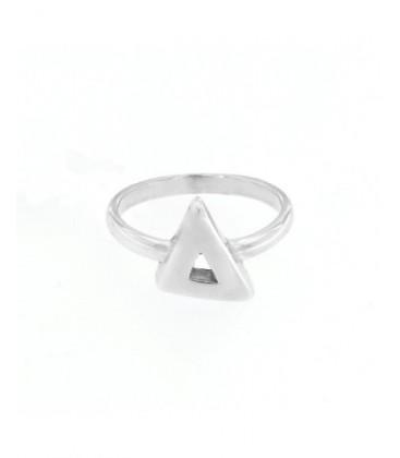 Anell de plata de llei iamb forma de triangle. - ANRN397
