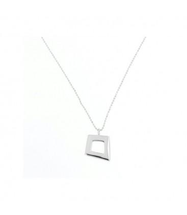 Colgante de plata con forma de cuadrado. - PERN393