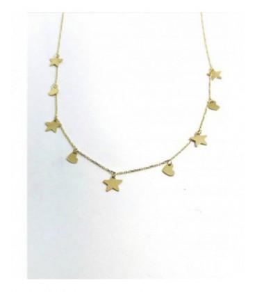 Collar de oro con estrellas y corazones. - P005715057