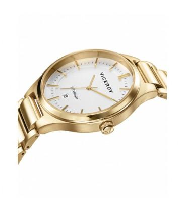 Reloj Viceroy caballero caja y brazalete titanio dorado. - 471237-07