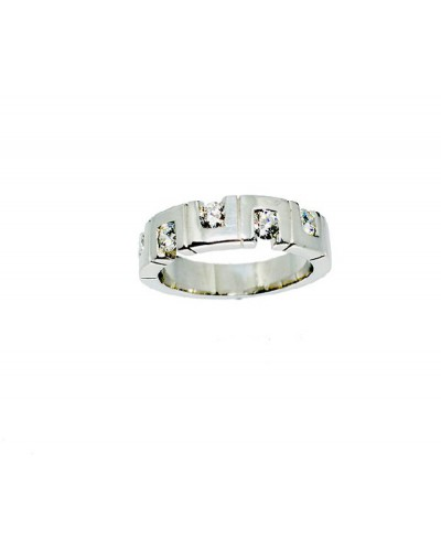 Anillo oro blanco brillantes. - MI 8000