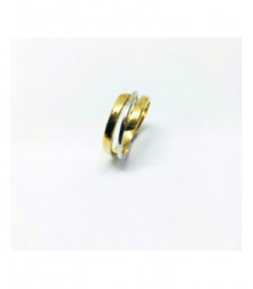 Anell d'or bicolor. - 5985-1