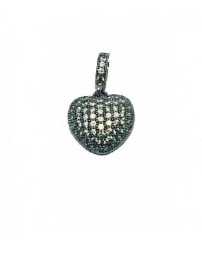 Colgante de plata en forma de corazón - 300123
