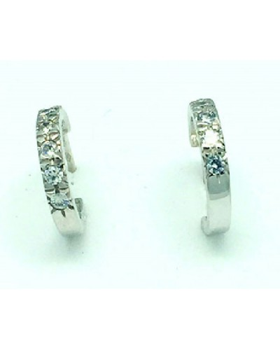 Pendientes de oro blanco y circonitas. - M-925102