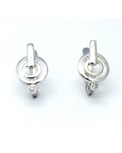 Pendientes de oro blanco. - 155190AO