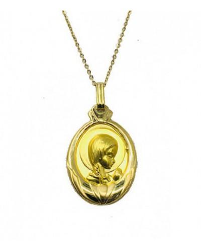 Medalla de oro de la Virgen Niña. - M-0010