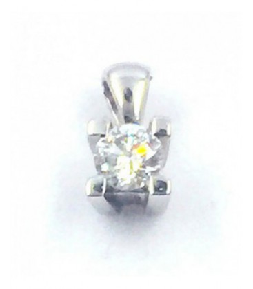 Penjoll d'or blanc amb brillant. - 934232