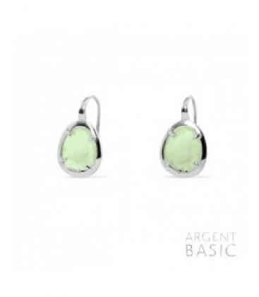 Arrecades de plata cristall verd. - ARRS003PG
