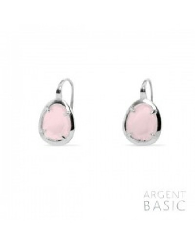 Arrecdes de plata amb cristall rosa. - ARRS003PR