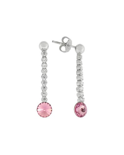 Arrecades plata i cristalls Swarovski. - LSW3126A-L